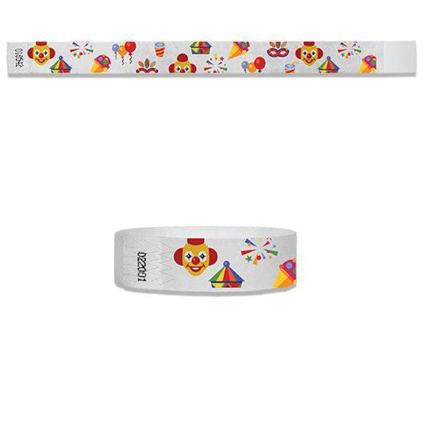3/4   Carnival Full Color Wristbands