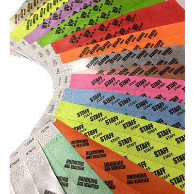 3/4 Tyvek Wristbands for Event Planners