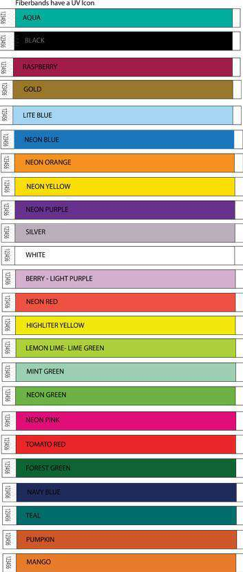 3/4 Fiberband Tyvek Wristbands Solid Colors