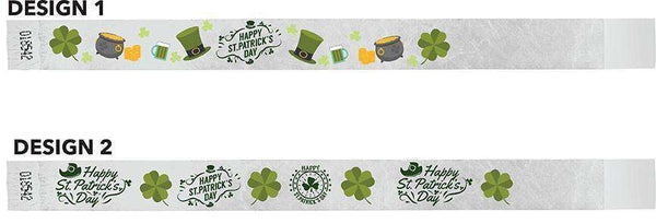 3/4 Wristbands St Paddys Full Color 500 Pack - TrendyWristbands
