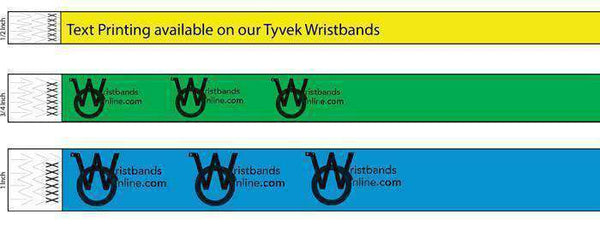 View our example print wristbands