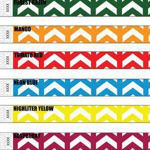 3/4 Tyvek Wristband Design Arrows Up