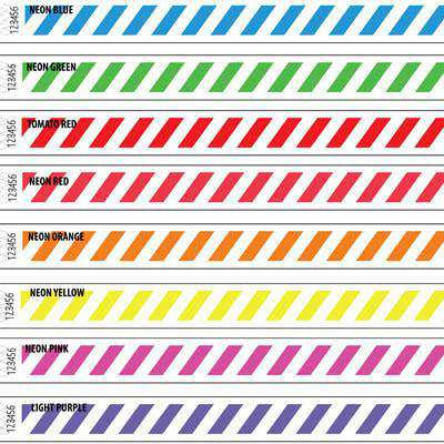 3/4 Tyvek Wristband Design Stripes