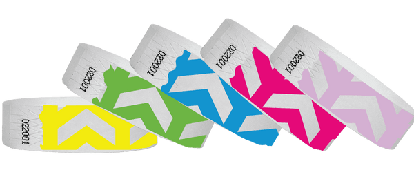 3/4 Tyvek Wristband Design Arrows Up - TrendyWristbands