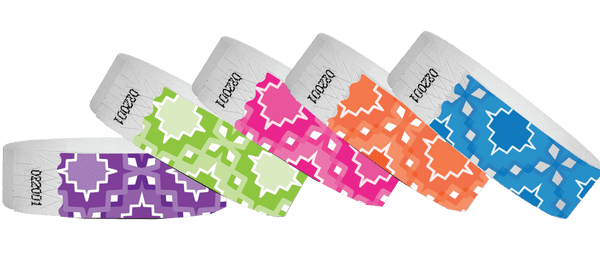 3/4 Tyvek Wristband Design Aztec - TrendyWristbands