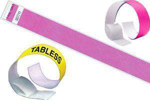 3/4 Tabless Wristbands Solid Colors