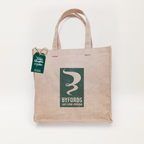 Byfords jute bag with cotton handles