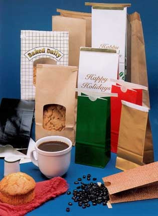 Paper Coffee Bags (With Tin Tie Closure)