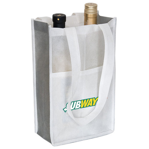 Custom Printed Reusable Wine Bottle Bags WB102 (2 Bottles)