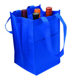 Custom Printed Reusable Wine Bottle Bags WB103 (4 Bottles)