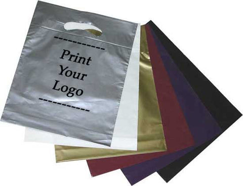 Stocked Poly Bags Tagged Quot Fold Over Die Cut Handle Bags