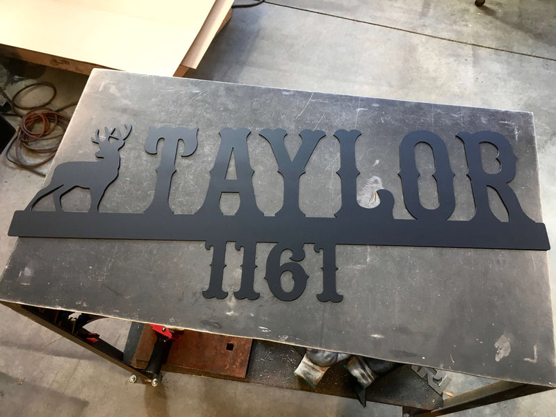 address sign deer custom metal