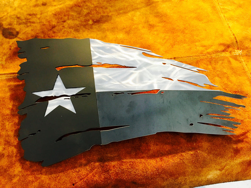 metal rugged flag texas steel