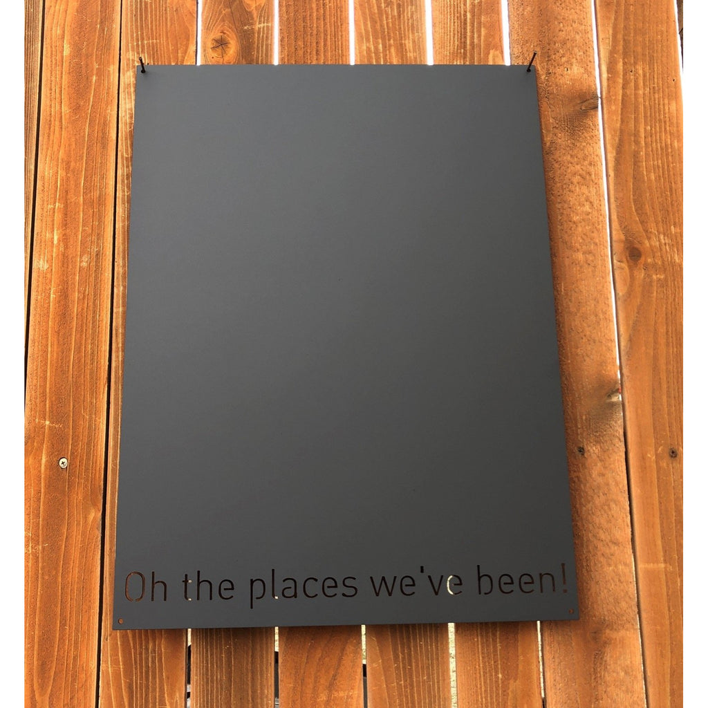 "Oh the places we've been! | Magnet Board | 18""x24"" 