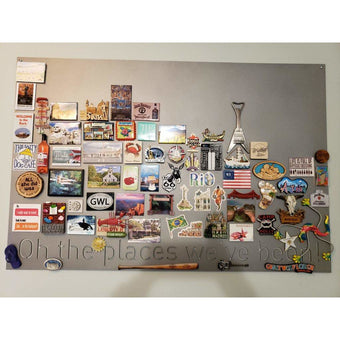 """Oh the places we've been!   Magnet Board   36""""x24""""   #1206d"""