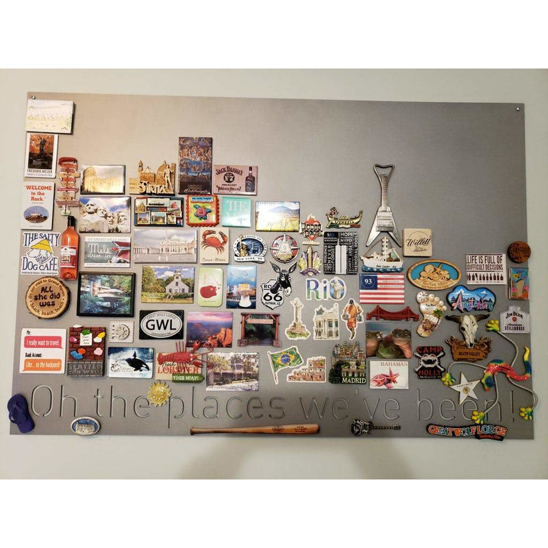"Oh the places we've been! | Magnet Board | 18""x40"" 
