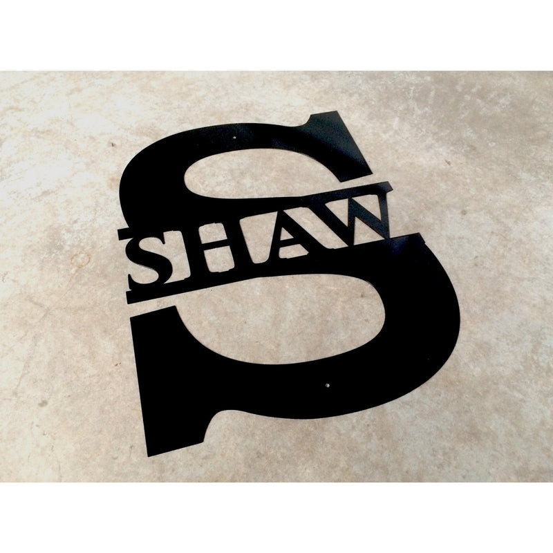 Custom Last Name Letter Sign