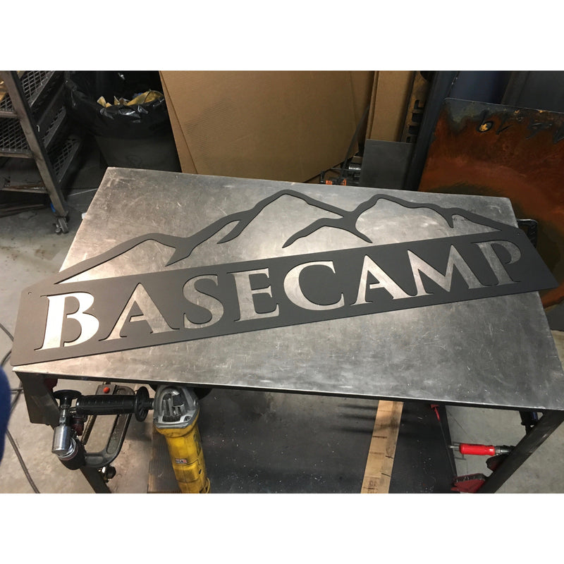 Mountains | Simple Name | Custom Metal Sign | #1002d