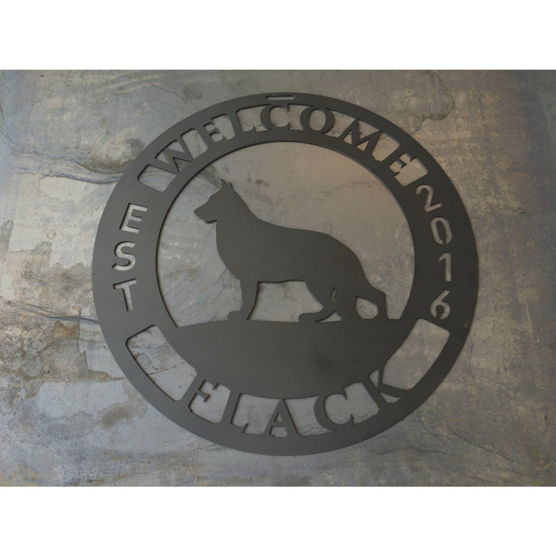 Round Welcome Sign | Custom Metal | #1501