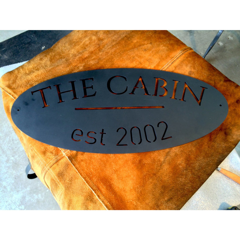Oval Estate Sign | Custom Metal | 24"