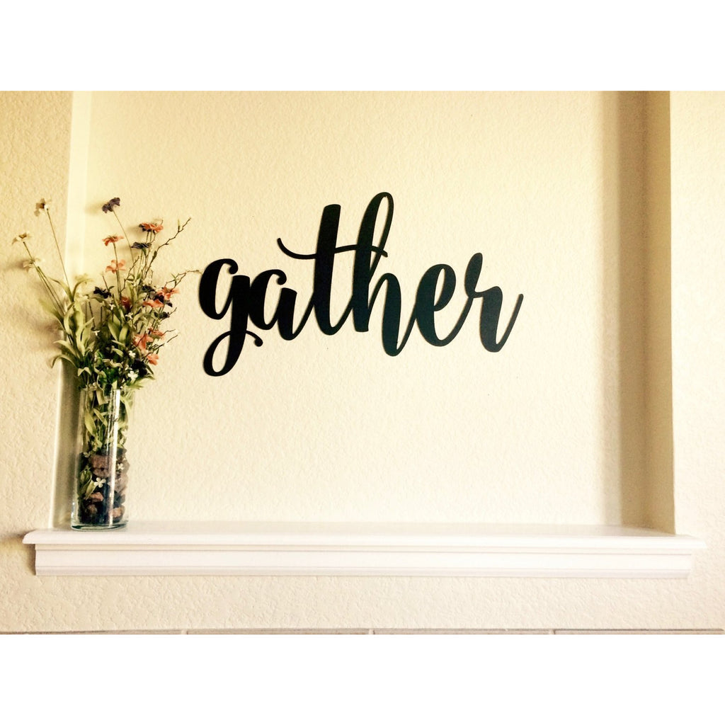 Gather | Metal Word Art | #4402