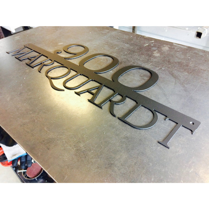 Simple Address Marker | Custom Metal Sign | #1000