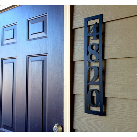 Vertical House Numbers | Custom Metal Sign | #1004