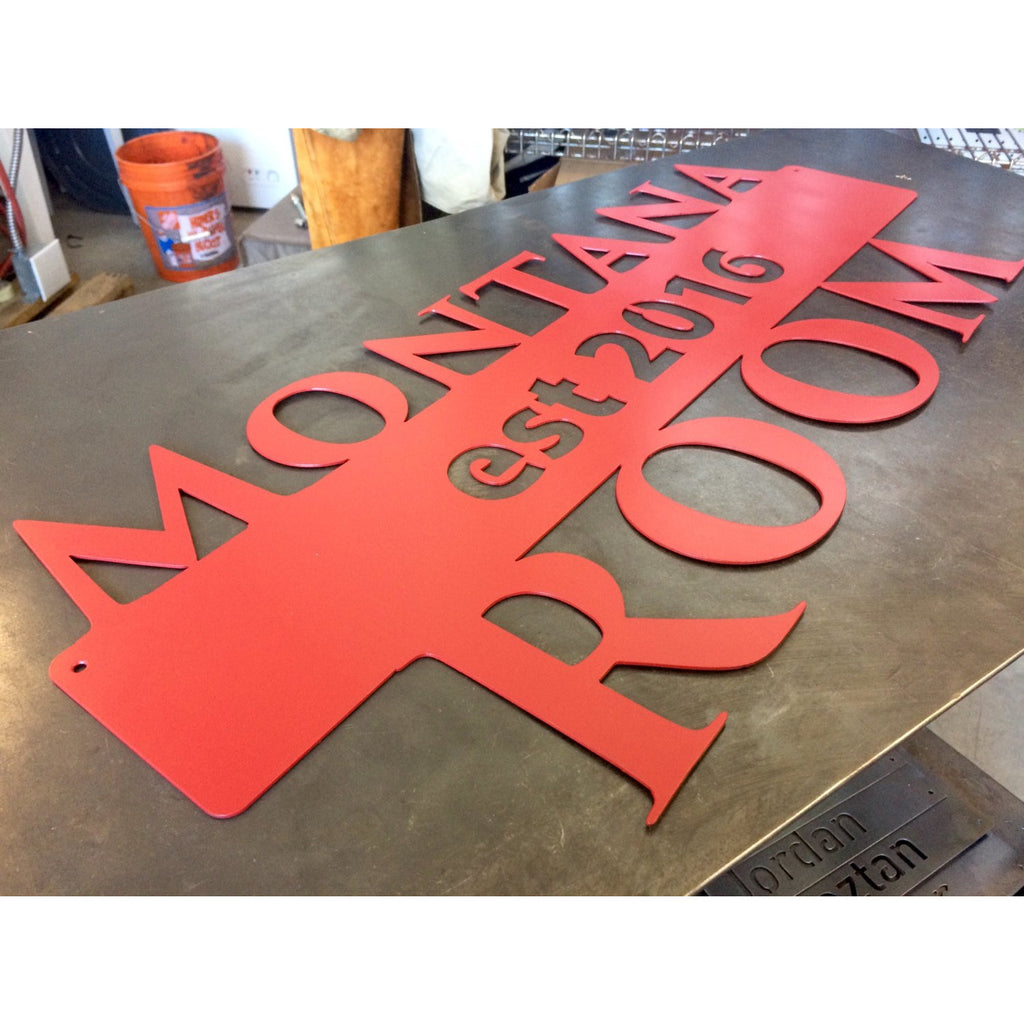 Large Estate Sign | Established | Custom Metal | 34"