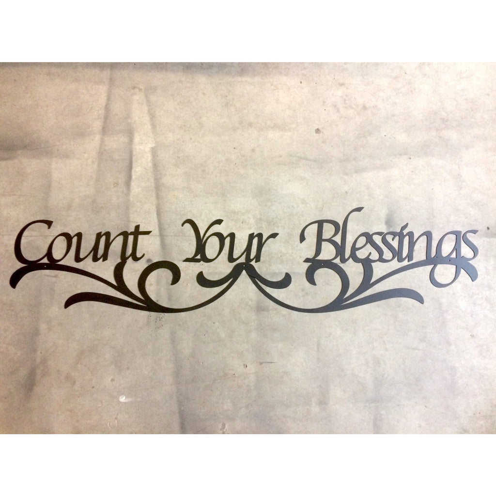 Count Your Blessings | Metal Word Art | 72"