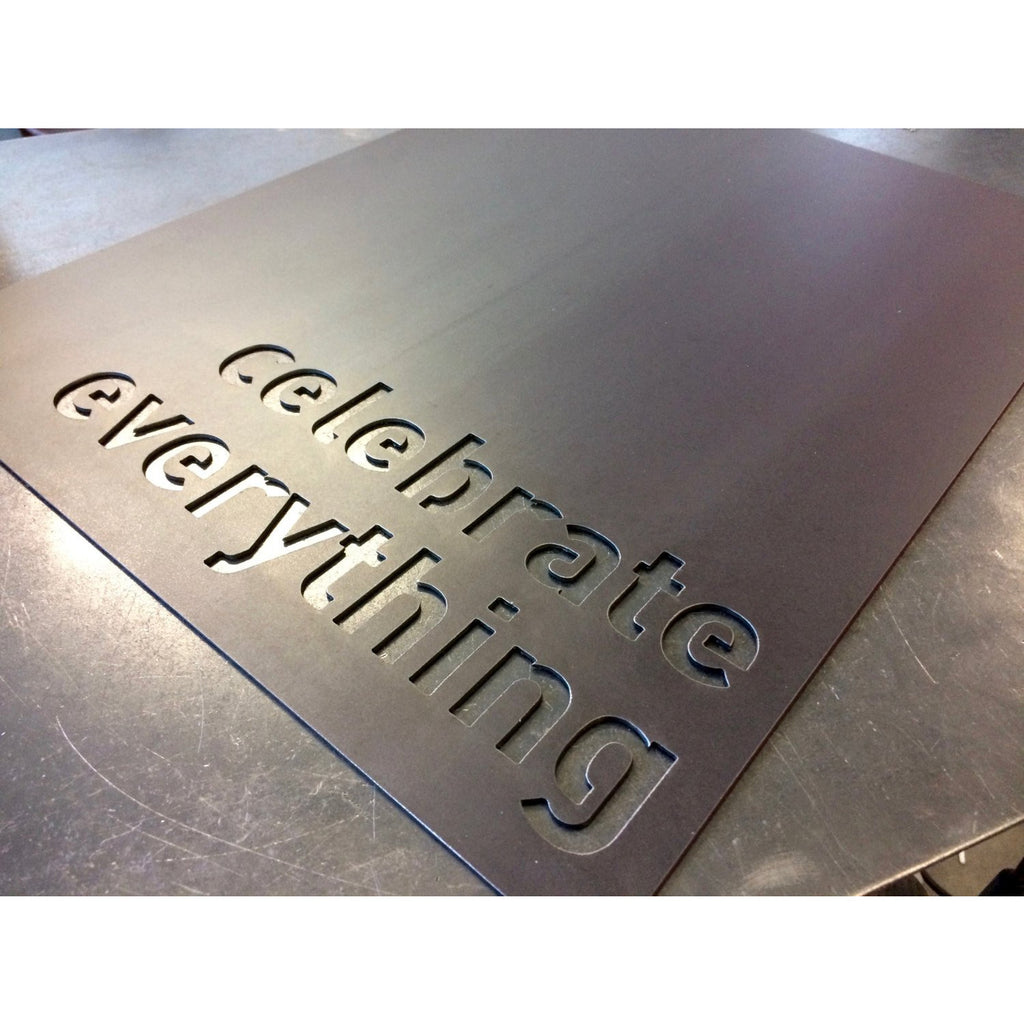"Celebrate Everything | Metal Magnet Board | 14""x18"" 