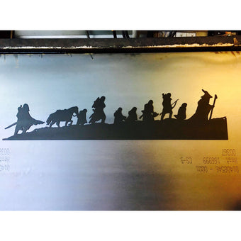 Lord of the Rings Fellowship Silhouette | Metal Wall Art | 40"