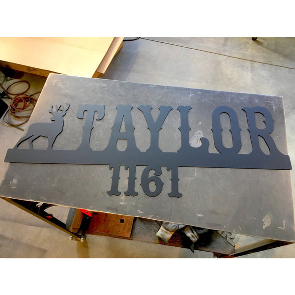 Cowboy Address Marker | Custom Metal Sign | #1400