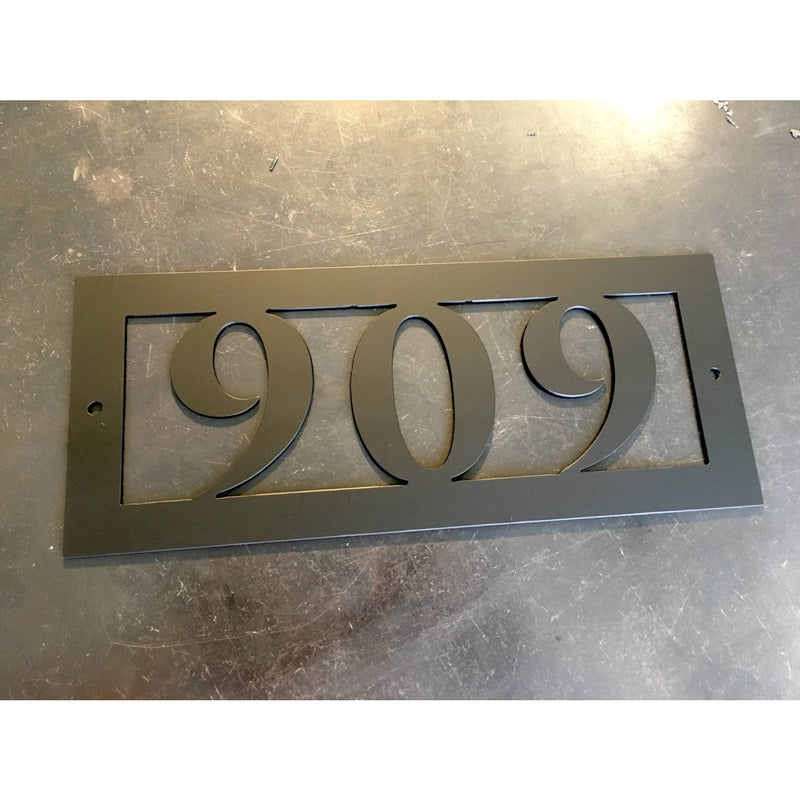 Horizontal 3# - House Number | Metal Address Sign | Custom Metal | Modern Address Marker | Personalized | Marker | #1007h3