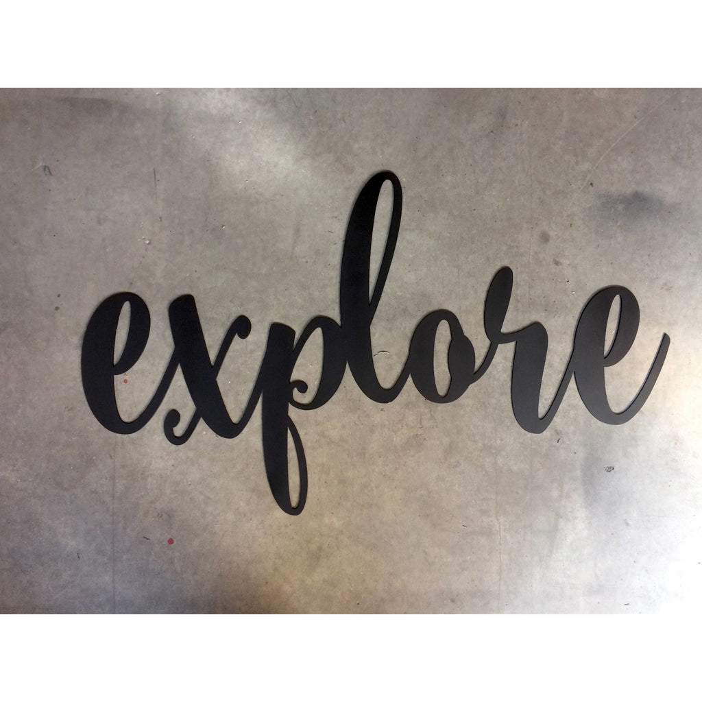 Explore  | Metal Word Art | #4403