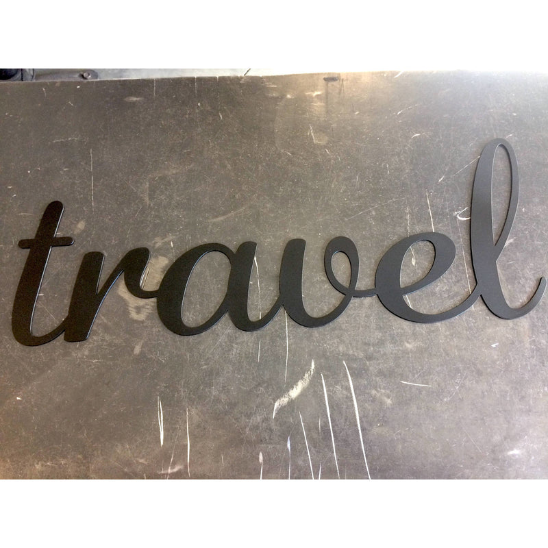 Travel | Metal Word Art | #4420