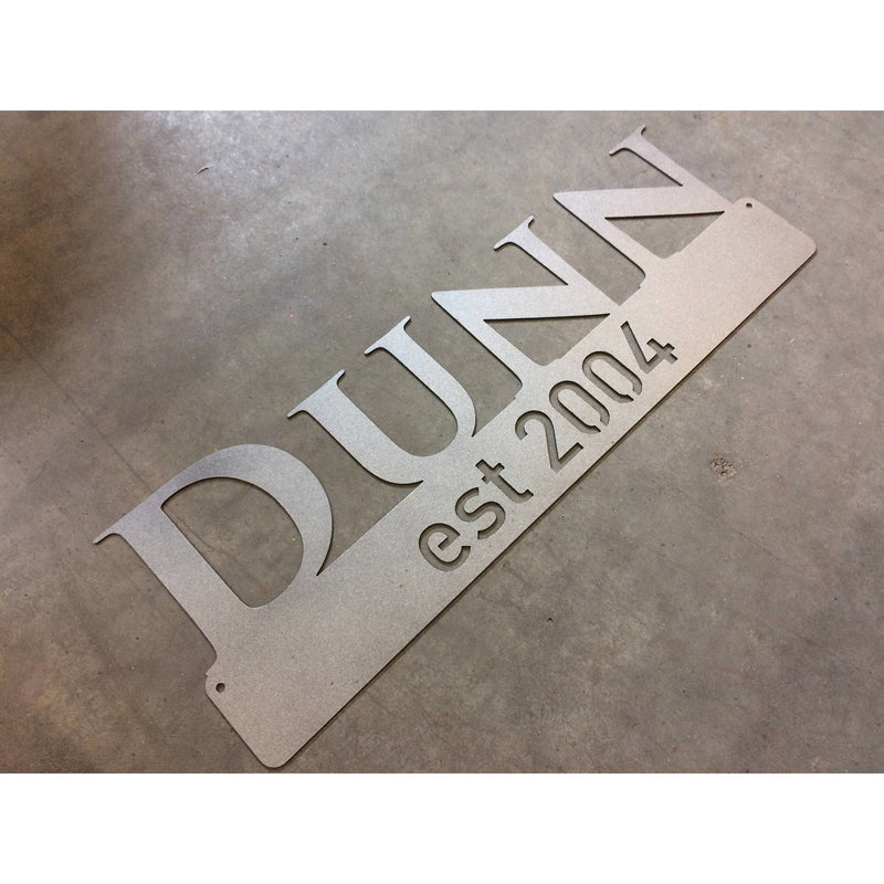 Last Name Established | 23"