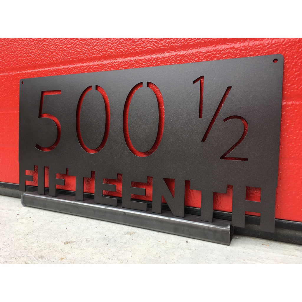 Modern Address Marker | Custom Metal Sign | #1008a