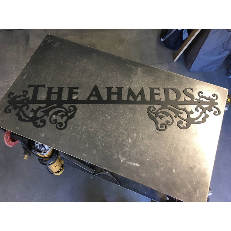 Ornate Estate Sign | Custom Metal | One Line | #1336