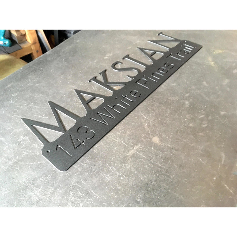 Name Address Estate | Custom Metal Sign | #1302