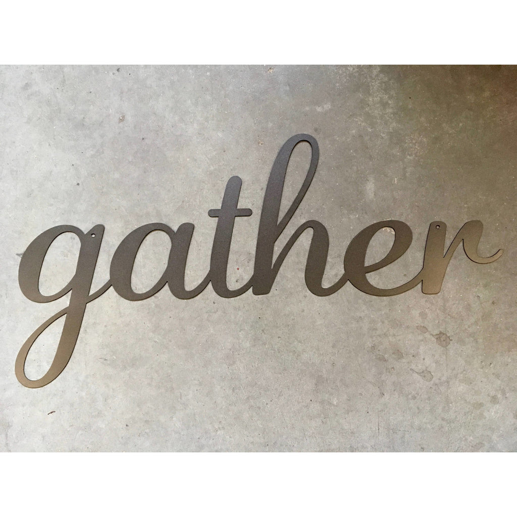 Gather | Metal Word Art | #4421