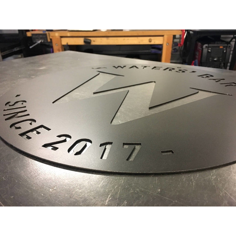Central Letter | Round Family Sign | Custom Metal | #1505