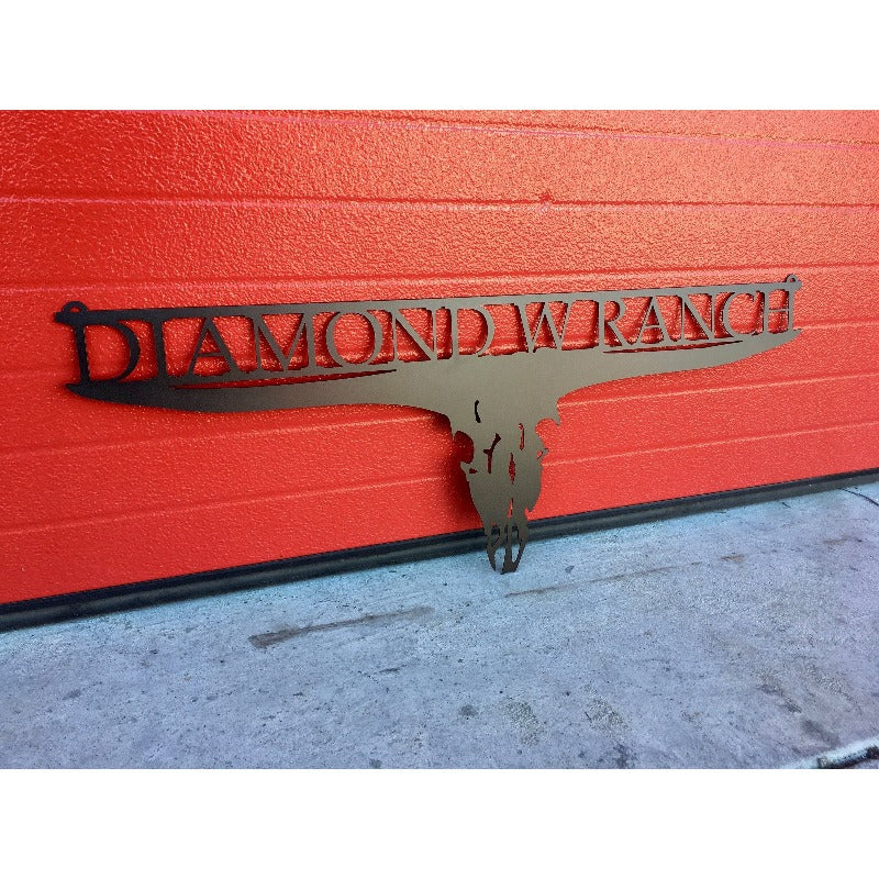 Cow Skull Ranch Sign | Custom Metal | #2000