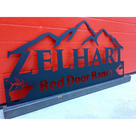 Mountains | Elk | Last Name Established | Custom Metal Sign | #1002