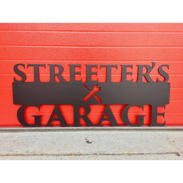 Shop Sign | Tools | Custom Metal | 46"