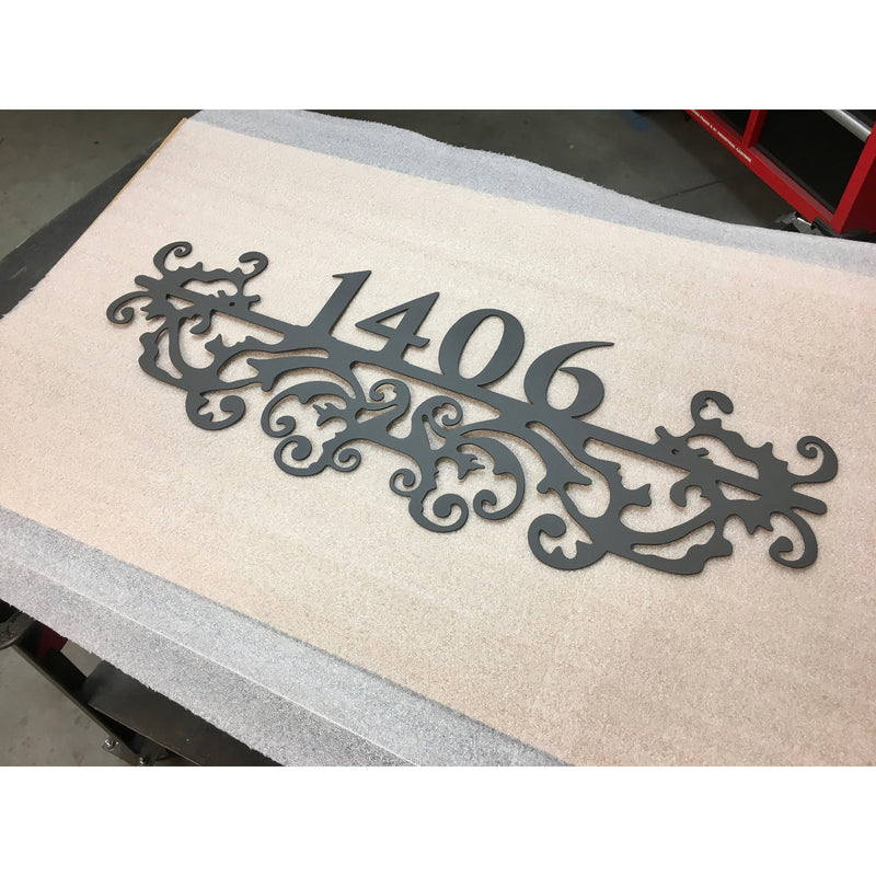 Ornate Address Marker | Custom Metal Sign | #1340