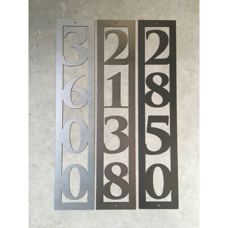 Vertical House Numbers | Custom Metal Sign | #1004v3