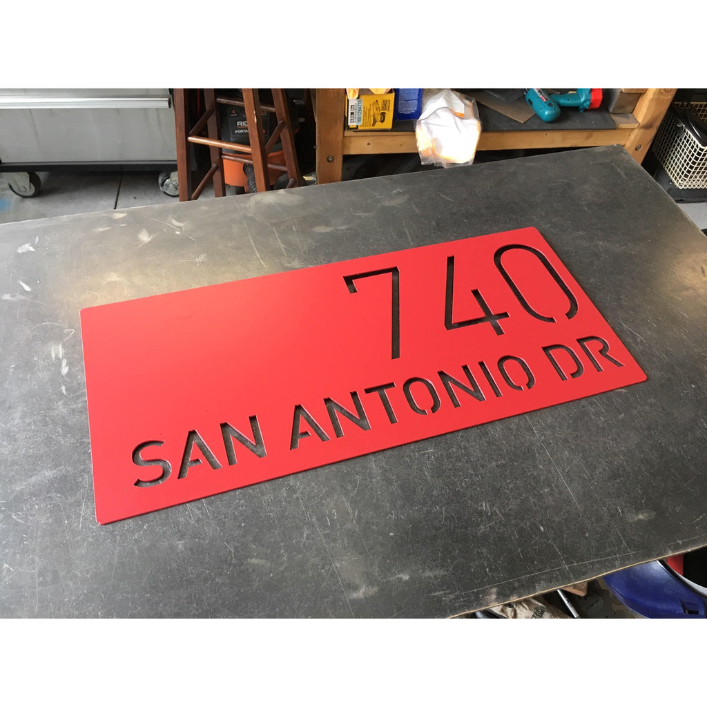 Modern Address Marker | Custom Metal Sign | #1008b