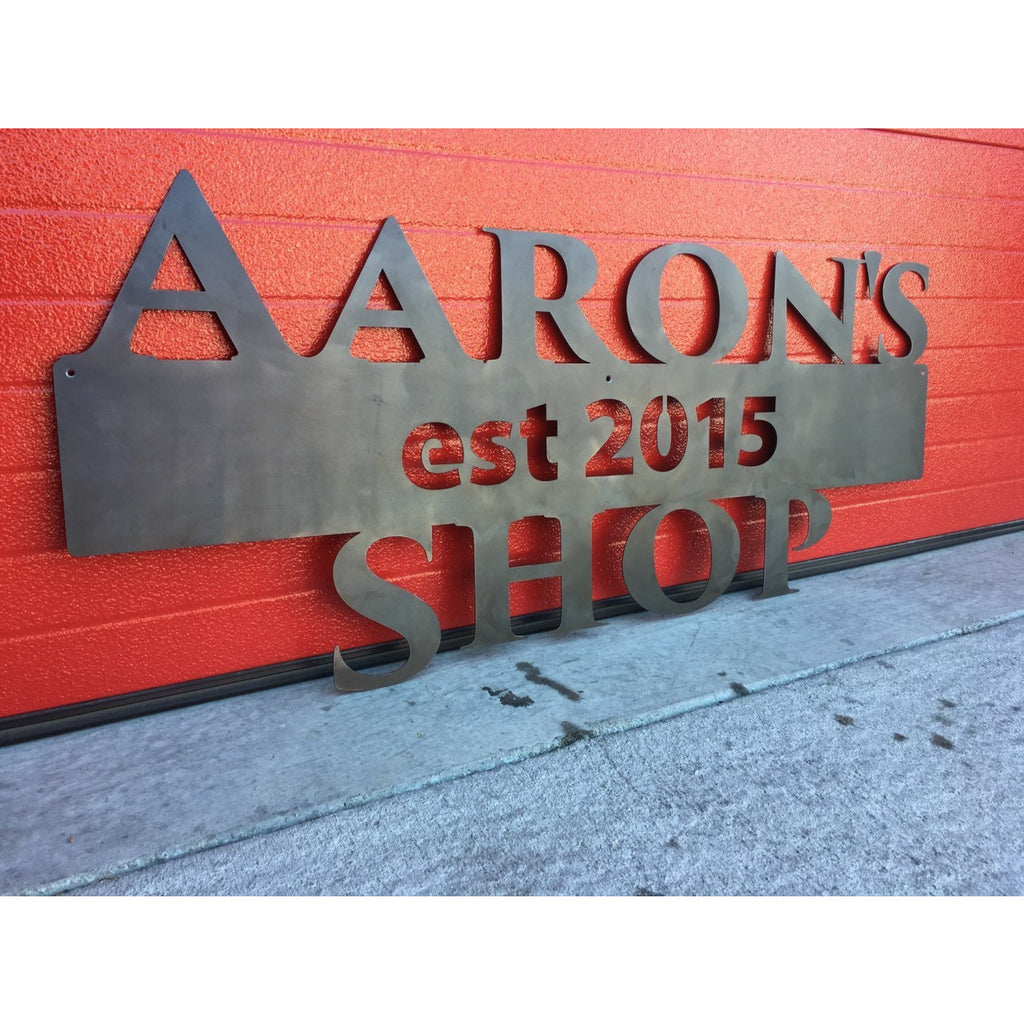 Shop Sign | Established | Custom Metal | 46"