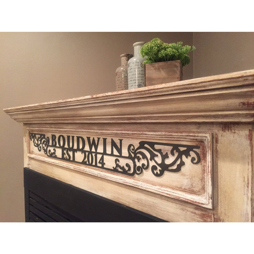 Ornate Estate Sign | Custom Metal | Thin | #1331