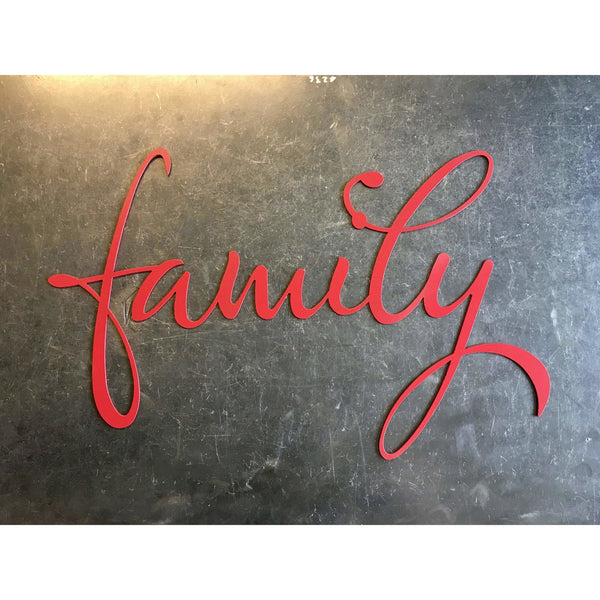 Artistic Family - Metal Lettering | Wall Art | Sign | Cursive Text | Steel Home Decor | Christmas Gift | Kitchen | Bedroom | Script | #4300